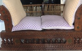 Lovely Iranian wooden two seater for sale