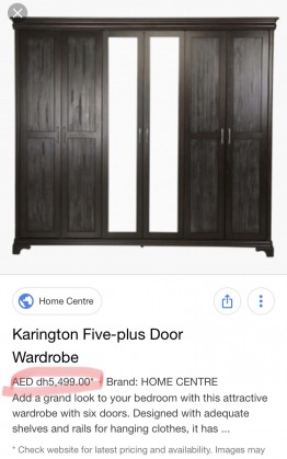 Home centre 6 door wardrobe