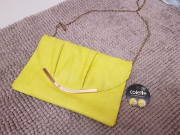 Yellow Colette purse and earrings