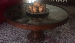 Lovely round wood Coffee Table & small side table for sale