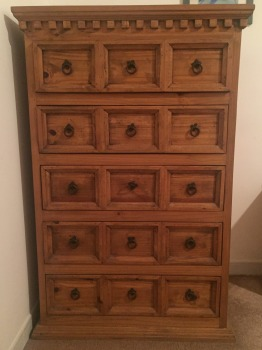 Solid Wood 5 Drawers Chest