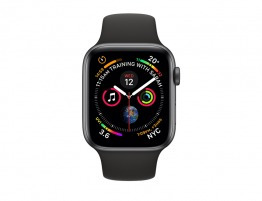 Apple Watch Series 4-40mm Space Gray Aluminum Case with Black Sport Band