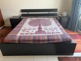 IKEA Queen Bed+ 2 side Tables + Mattress