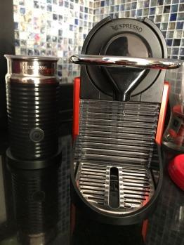 Nespresso Coffee Machine with Creamer