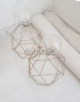 IKEA Gold Design Light Shade with Big Bulb x2