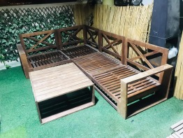 Outdoor fourniture 2 seaters chairs plus table