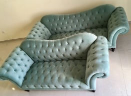 Elegant rolled armed 3 & 4 seater sofa set