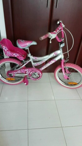 """16"""" bicycle for girls aged 4 to 8"""