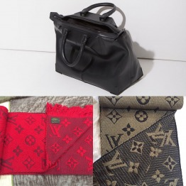 Louis Vuitton two logomania shawls. Alexander Wang limited edition bag