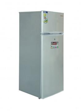 Geepas Double Door Refrigerator 240L silver color