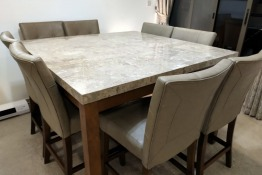 8 seater Home Centre dining set with marble top table