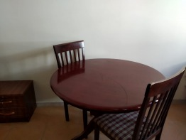 Wooden Round dining table with chairs for less price