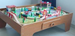 ELC wooden toy train tracks set