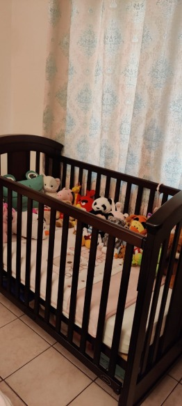 Crib with mattress and cot bumper