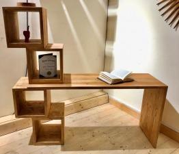 Wood Shelf Desk with Shelf