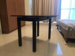 Extendable Black Table IKEA BJURSTA