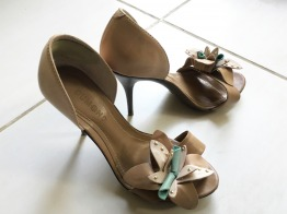 Dumond Tan Leather Heels