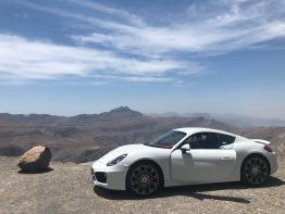 White Porsche Cayman S (3.4L) Registered 2015.