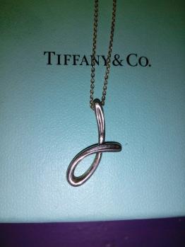 Tiffany & Co. Elsa Peretti letter 'J' pendant