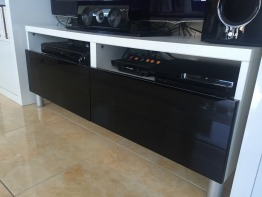 TV table with drawers
