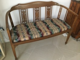 2 seater antique chair