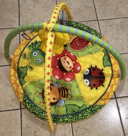 Printed round playmat for babies