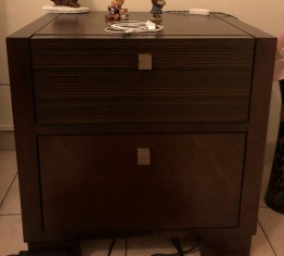 Bedside table (brown) - only 1 pc.