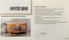 Solid Timber Cherry Wood Coffee Table - Country Road Australia