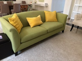 green Sofa from Crate and Barrel