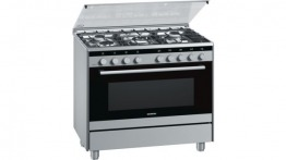 Siemens professional range cooker with gas oven and gas cook top (90cm wide, 5 gas hobs)