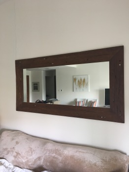 Wooden wall or stand alone mirror - 180cm x 90cm