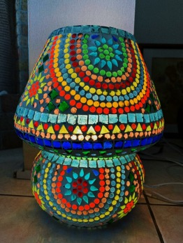 colourful  glass table lamp