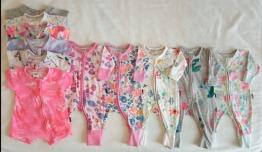 11x Bonds baby girl Wondersuits & Rompers bundle newborn & 0-3mnth