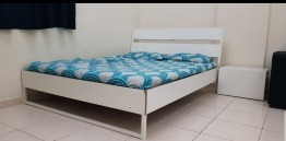 Bed with matress, sofa and TV table set for sale