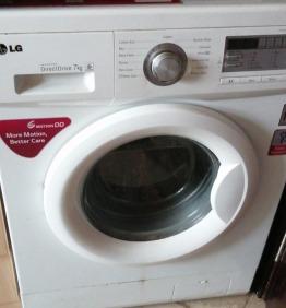 Washing machine LG front load 7 kg capacity