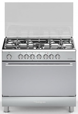 Cooker with electric oven + gas cylinder, hose and regulator