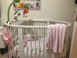 stoke Sleepi - White Baby Crib - Adjustable