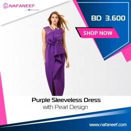 Purple Pearl Combo – Sleeveless Dress Online in Middle East