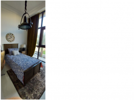 Beautiful Single American bed and side table for sale with mattress