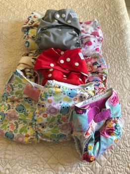 cloth diapers bambooty, totsbots, basic etc