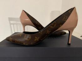 Original Brand New LOUIS VUITTON CHERIE PUMP heels size 37 for sale