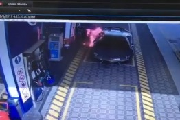Watch: Abu Dhabi Petrol Attendants Battle a Supercar in Flames