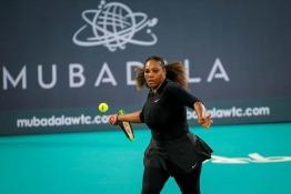 Serena Williams at Mubadala World Tennis Championship 2018