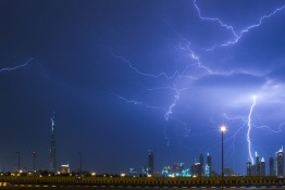 Storm in Dubai early April 2019