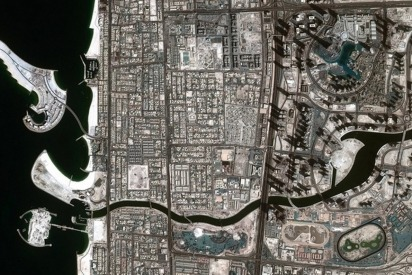 Incredible Picture of The Dubai Canal from Space