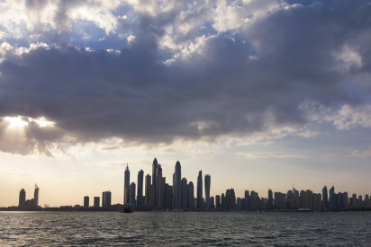 Cloudy weather in UAE for winter