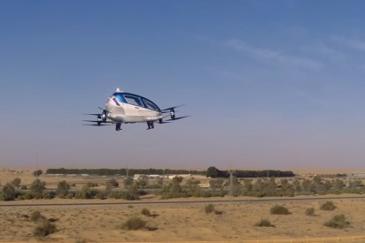 Watch: Flying Taxis Being Tested Around Dubai