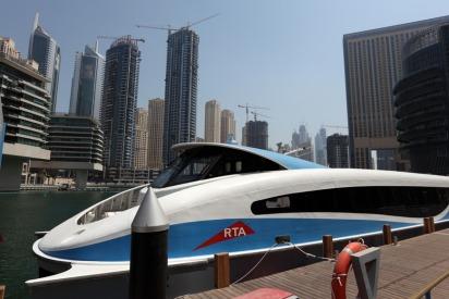 Dubai ferry between two Dubai malls