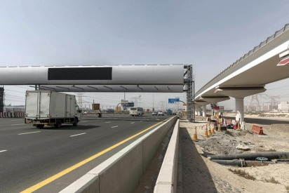 New Dubai Salik Gate on Sheikh Zayed Road