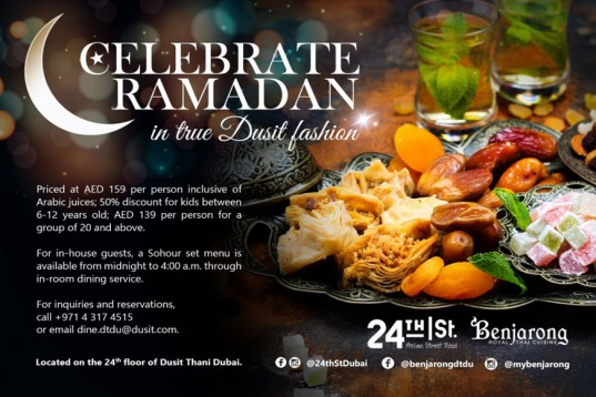 Celebrate Ramadan in true Dusit fashion